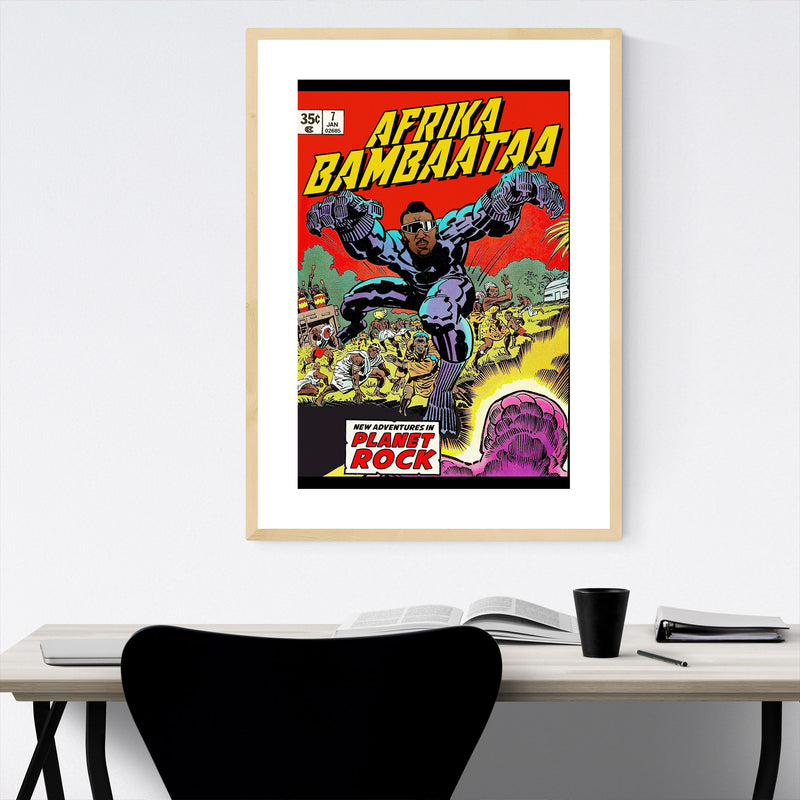 Afrika Bambaata Hip Hop Music Framed Art Print