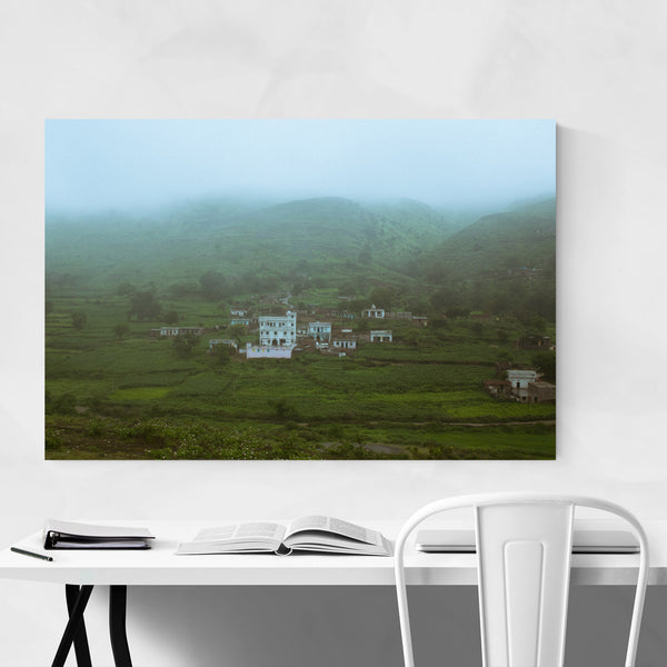 Indian Village Valley Asia Art Print