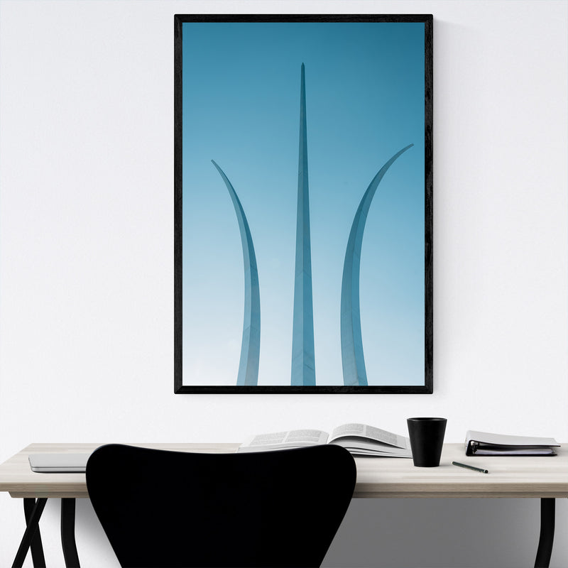 Arlington VA Air Force Memorial Framed Art Print