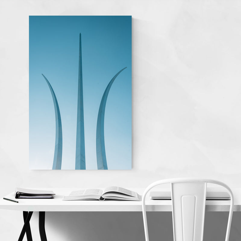 Arlington VA Air Force Memorial Metal Art Print