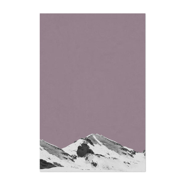 Abstract Minimal Mountains Art Print