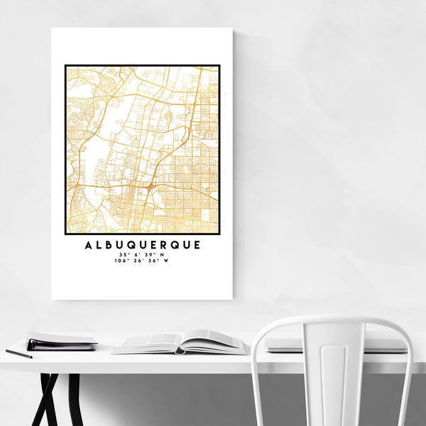 Minimal Albuquerque City Map Art Print