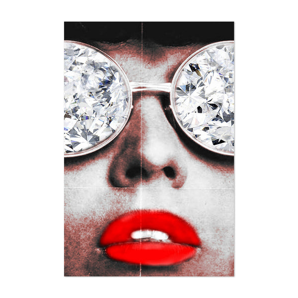 Fashion Lipstick Diamond Glamour Art Print