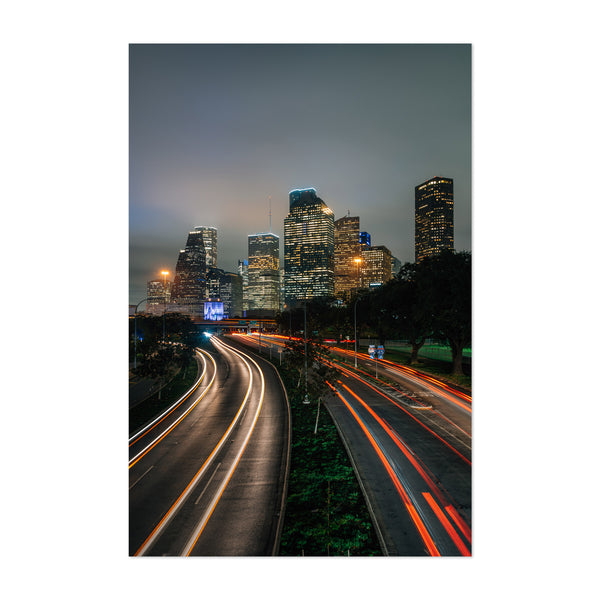 Houston Texas Cityscape Skyline Art Print