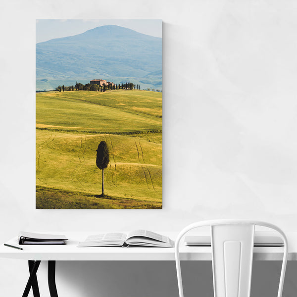 Tuscany Italy Fields Mountains Art Print