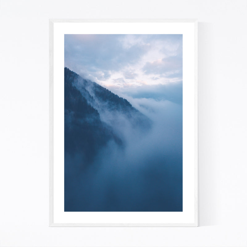 Lake Nambino Alps Mountain Italy Framed Art Print