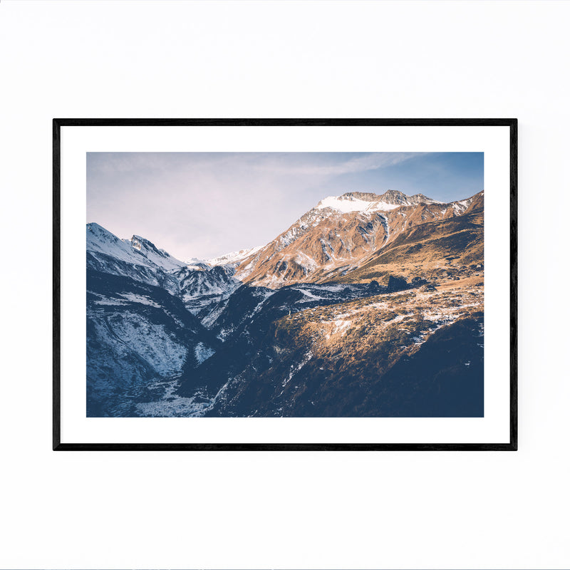 Tux Valley Tyrol Austria Cliff Framed Art Print