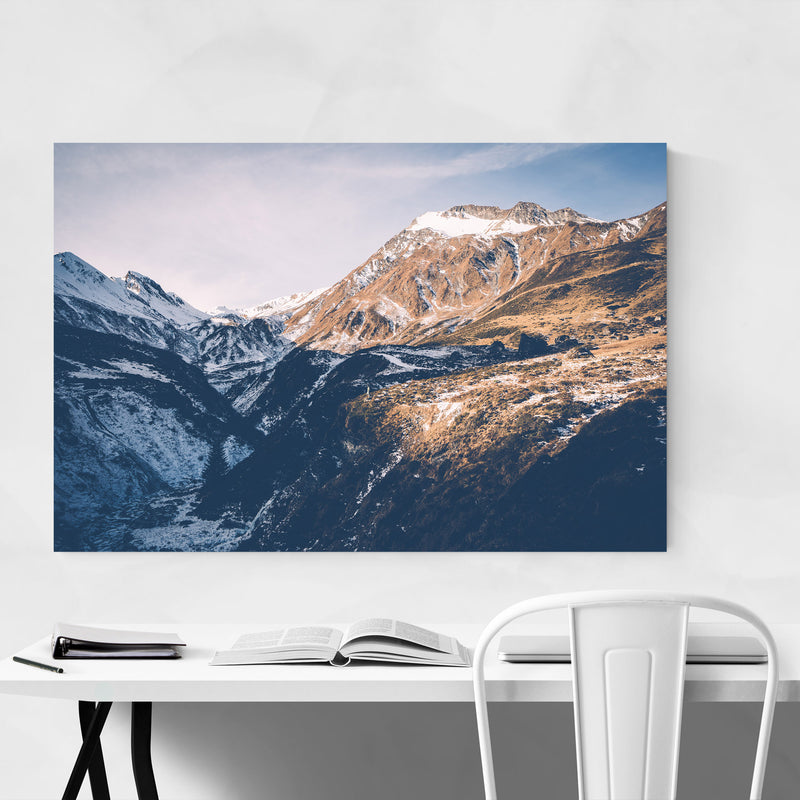 Tux Valley Tyrol Austria Cliff Canvas Art Print