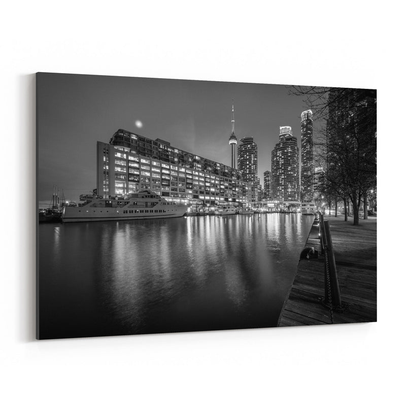 Black & White Toronto Skyline Canvas Art Print