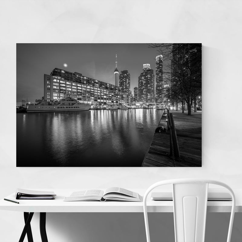 Black & White Toronto Skyline Art Print