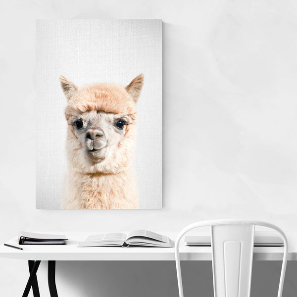 Nursery Alpaca Peekaboo Animal Art Print