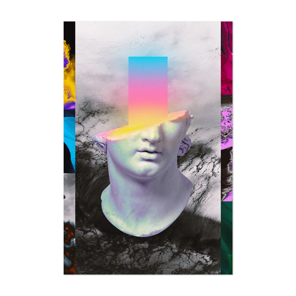 Abstract Figurative Collage Art Print