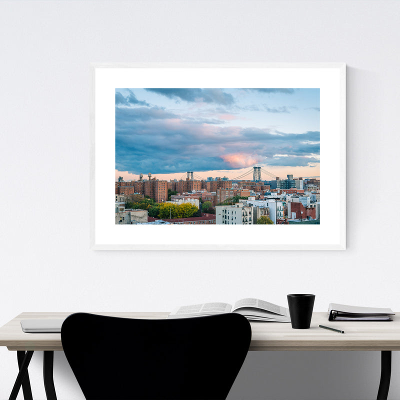 East Village New York City View Framed Art Print