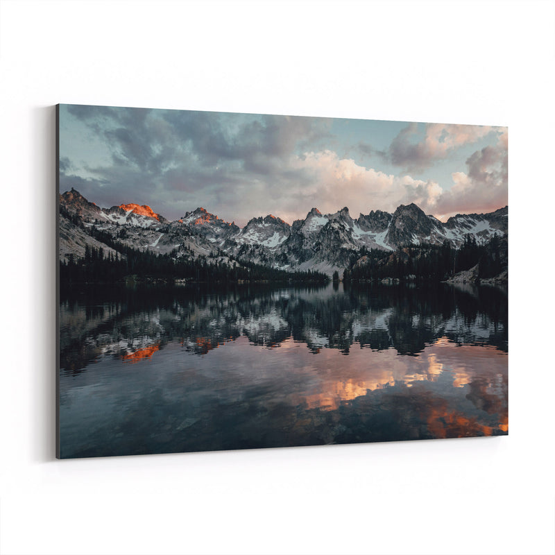 Sawtooth Mountains Idaho Nature Canvas Art Print