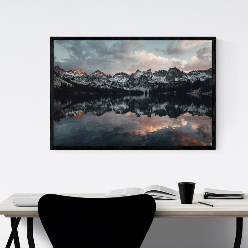 Sawtooth Mountains Idaho Nature Framed Art Print