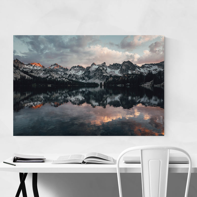 Sawtooth Mountains Idaho Nature Metal Art Print