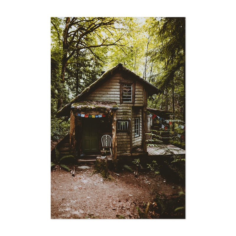 Cabin Woods Forest Washington Art Print