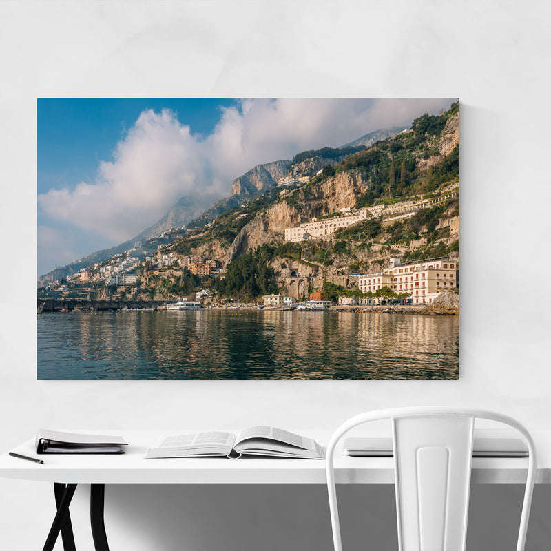 Amalfi Coast Italy Photography Metal Art Print