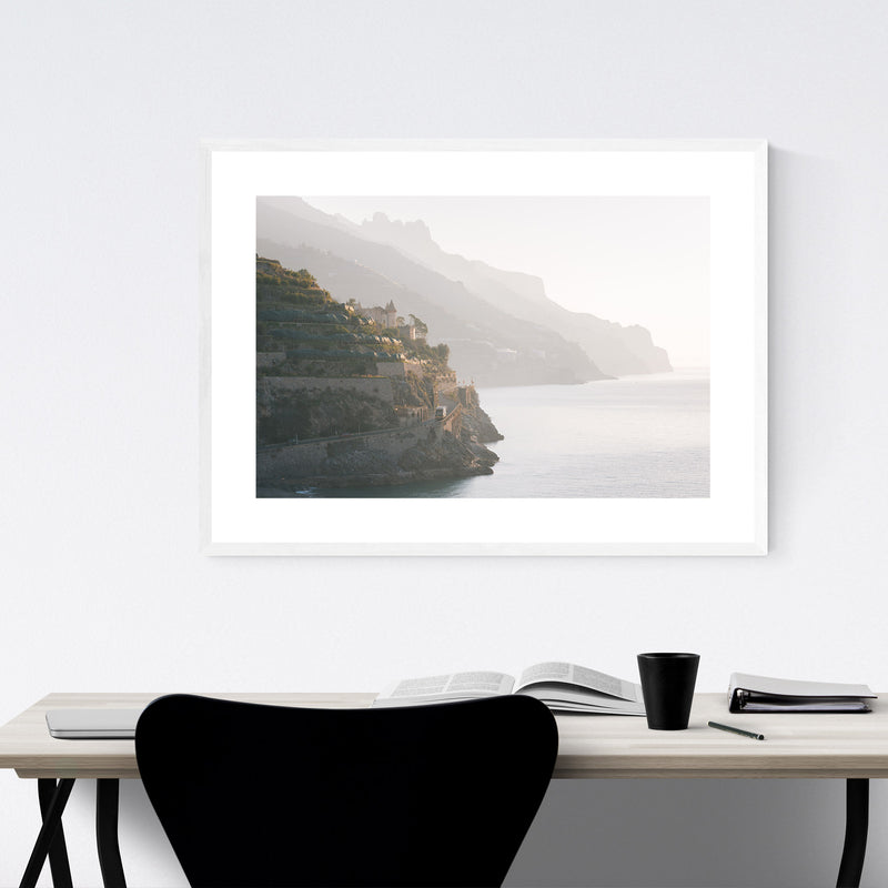 Minori Amalfi Coast Italy Photo Framed Art Print