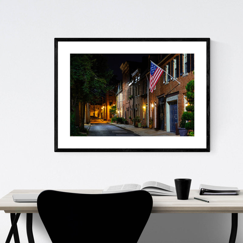 Fells Point Baltimore Row Houses Framed Art Print
