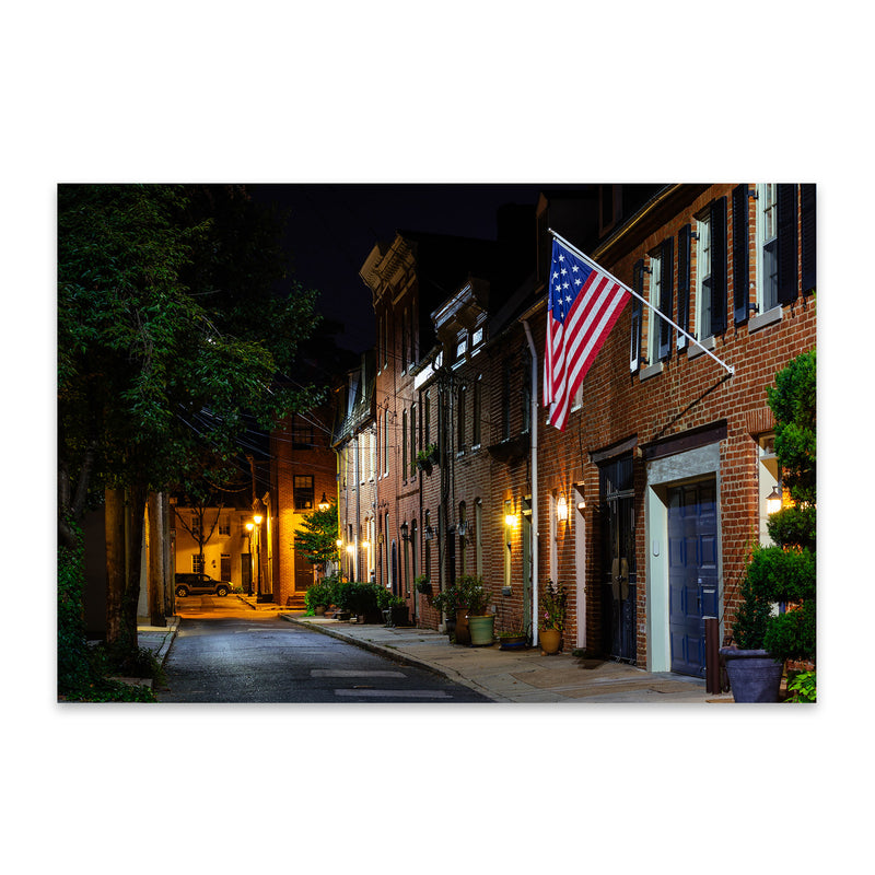 Fells Point Baltimore Row Houses Metal Art Print