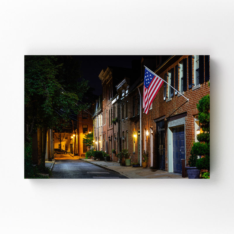 Fells Point Baltimore Row Houses Canvas Art Print