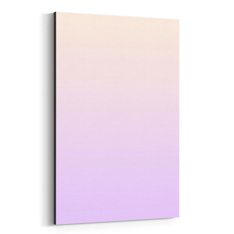 Minimal Gradient Pastel Purple Canvas Art Print