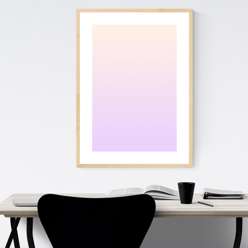 Minimal Gradient Pastel Purple Framed Art Print