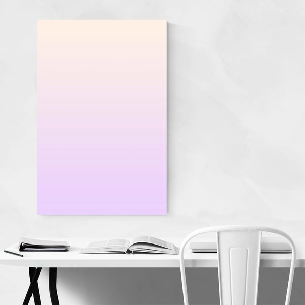 Minimal Gradient Pastel Purple Art Print