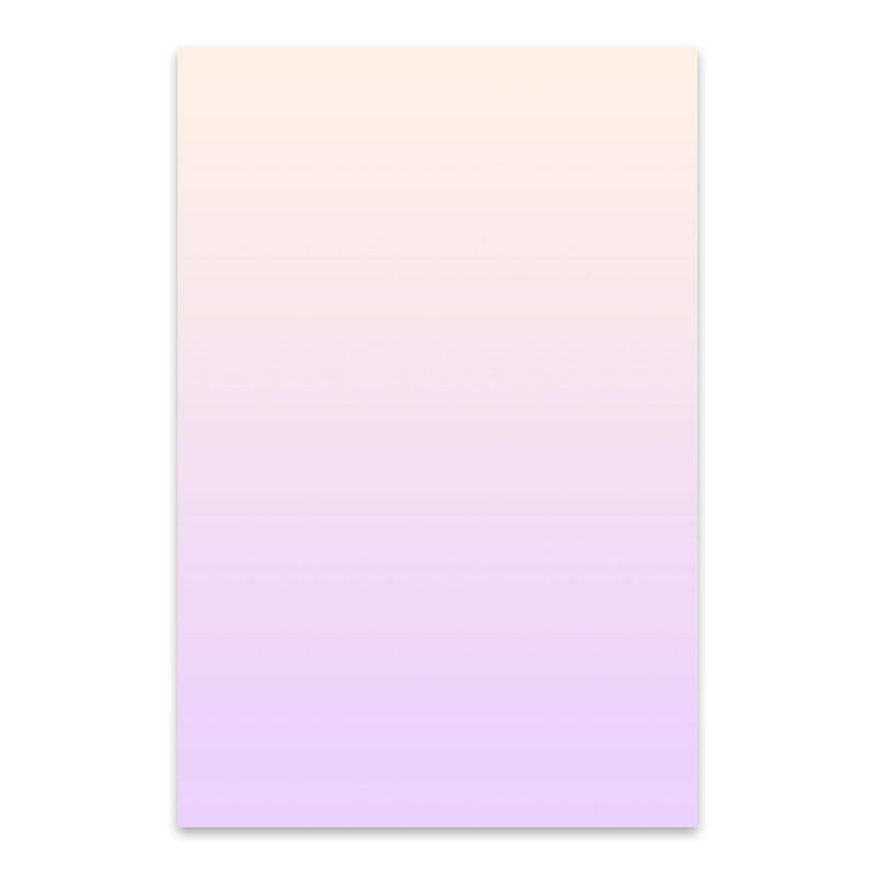 Minimal Gradient Pastel Purple Metal Art Print