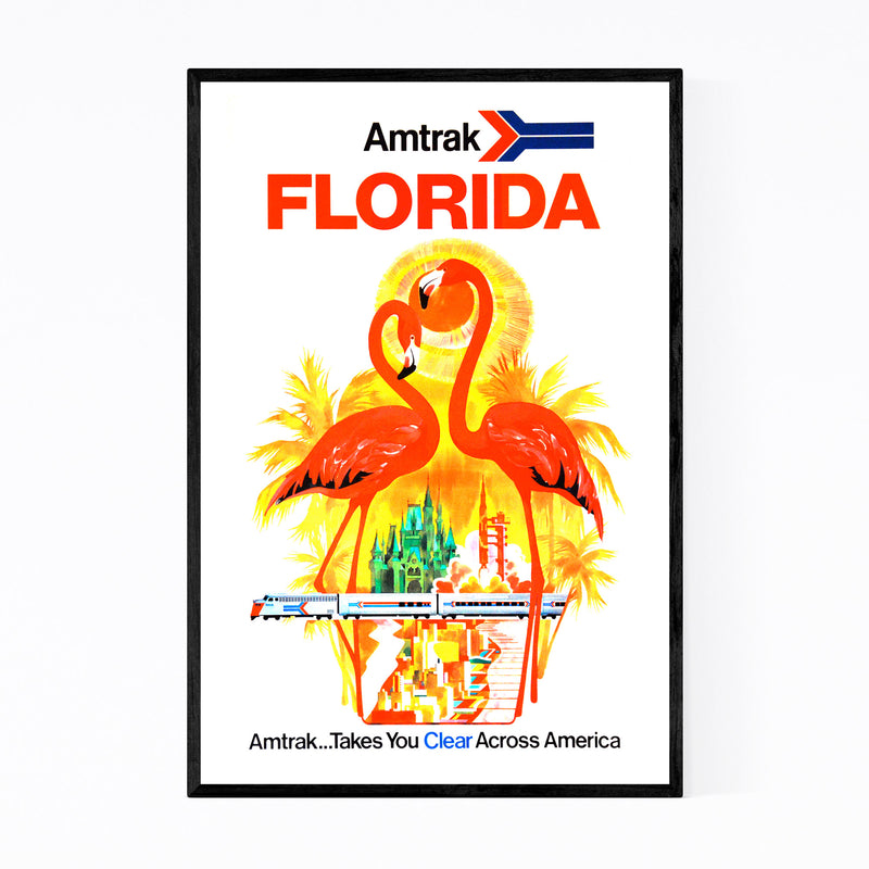 Florida Amtrak Travel Poster  Framed Art Print