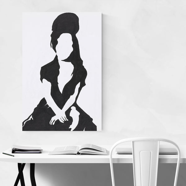 Abstract Amy Winehouse Music Art Print