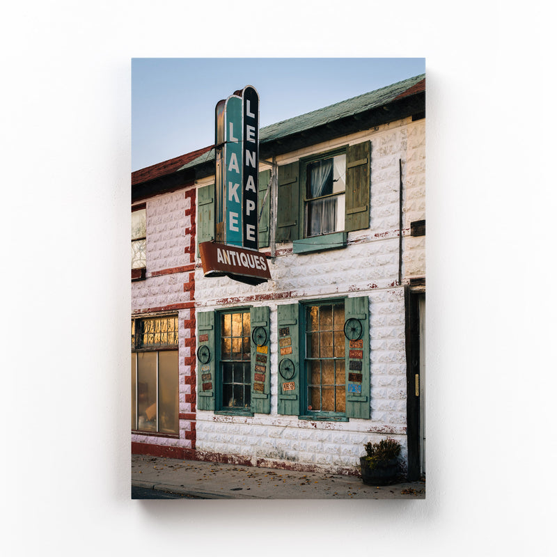 Old Vintage Antique Store Sign Canvas Art Print