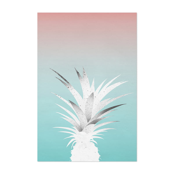 Pineapple Fruit Abstract Coastal Art Print