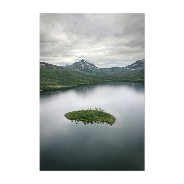 Norway Lake Mountain Landscape Art Print