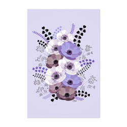 Anemone Digital Flower Pattern Art Print