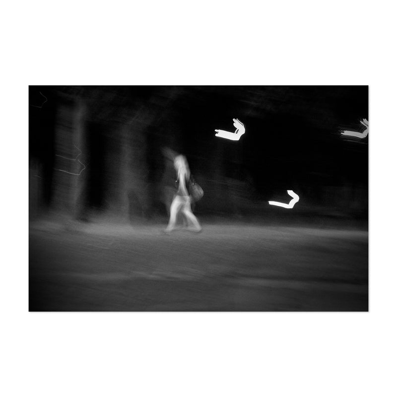 Woman Walking Abstract Blur Art Print