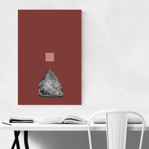 Abstract Geometric Shape Collage Art Print