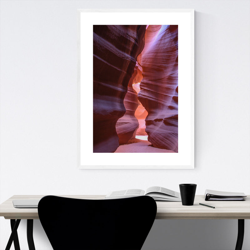 Antelope Canyon Arizona Desert Framed Art Print