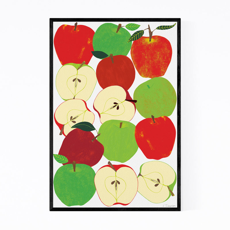 Fruit Apple Food Kitchen Framed Art Print