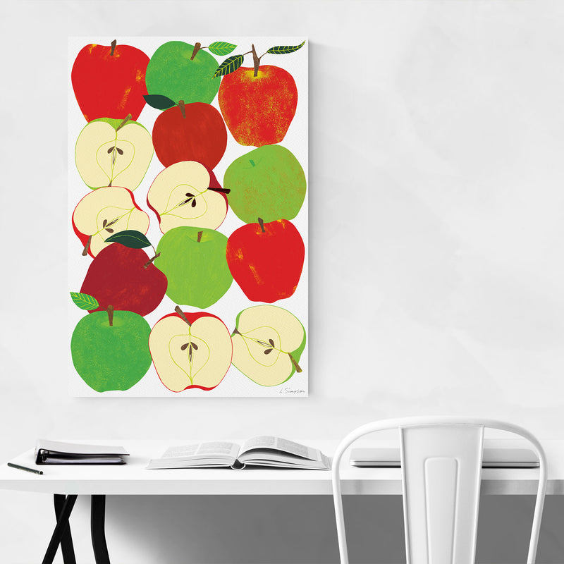 Fruit Apple Food Kitchen Canvas Art Print