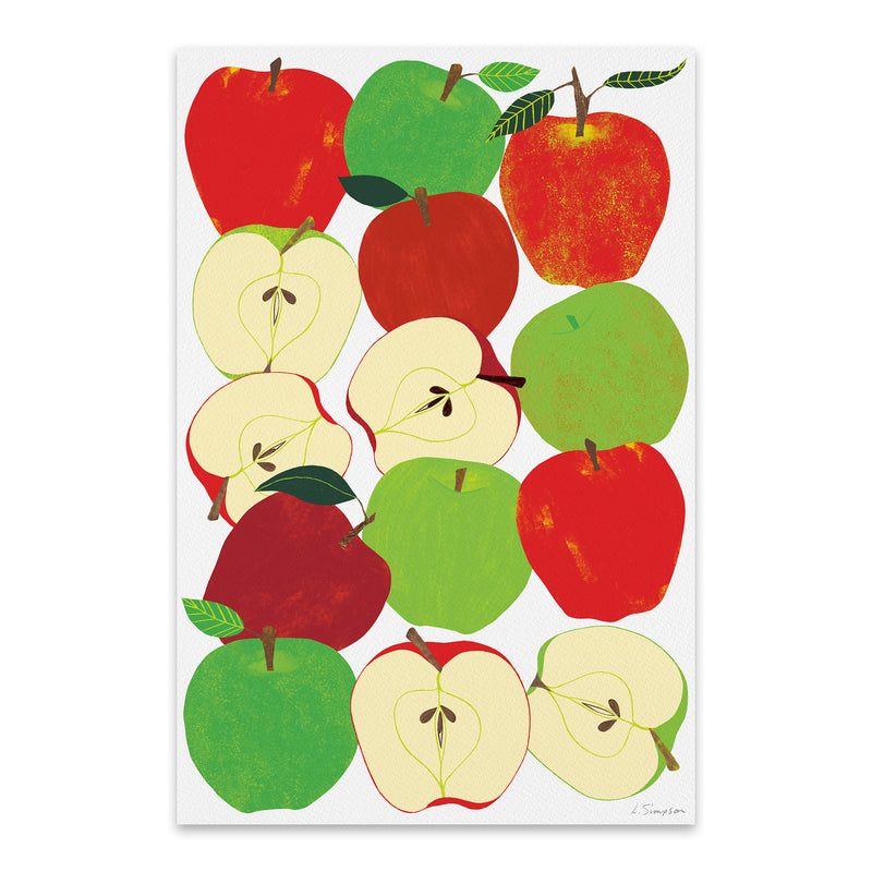 Fruit Apple Food Kitchen Metal Art Print