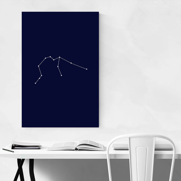 Blue Aquarius Astrology  Art Print