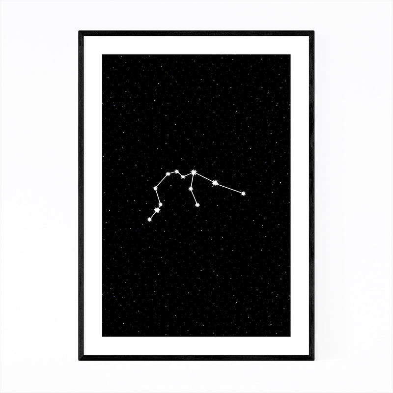 Night Sky Aquarius Astrology  Framed Art Print