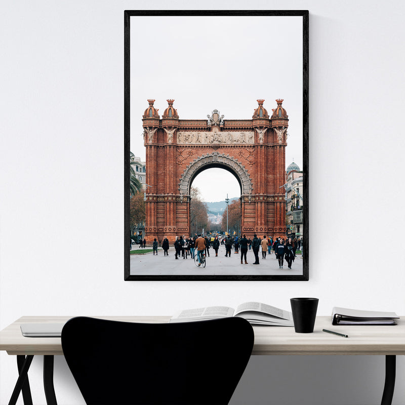 Arc de Triomf Barcelona Spain Framed Art Print