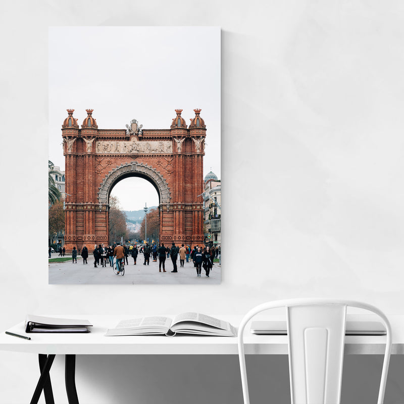 Arc de Triomf Barcelona Spain Canvas Art Print