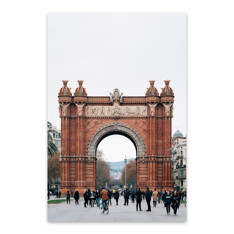 Arc de Triomf Barcelona Spain Metal Art Print