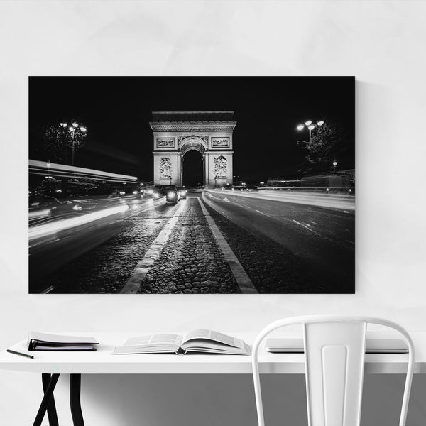 Black & White Paris Arch Photo Art Print
