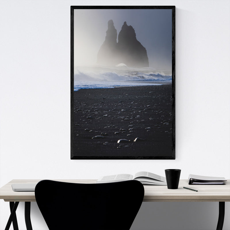 Iceland Landscape Nature Photo Framed Art Print