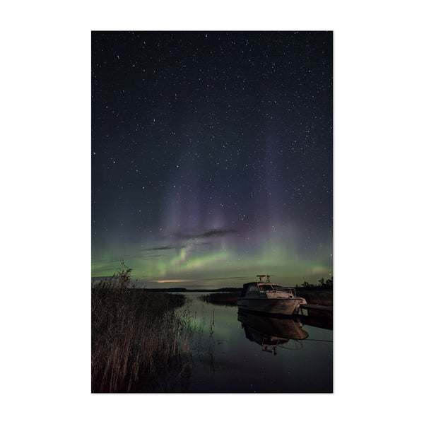 Northern Lights Finland Aurora Art Print